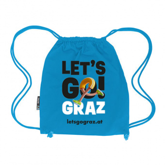 Lets Go Graz Gymbag Blau
